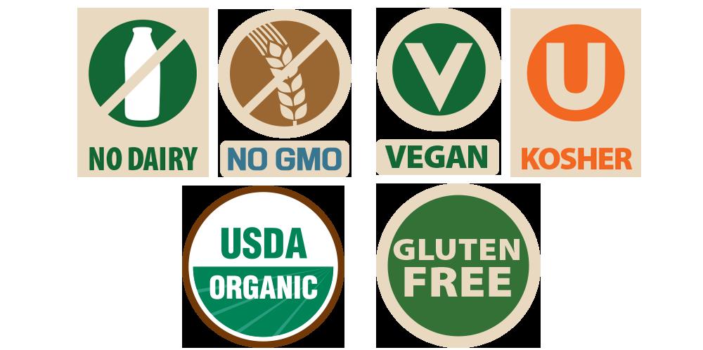 Organic Breakfast Sausage, no dairy, non-gmo, vegan, kosher, USDA organic, gluten free